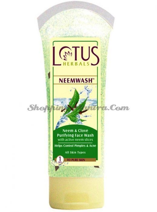 Антибактериальное средство для умывания Гвоздика& Ним Лотус Хербалс | Lotus Herbals Neemwash