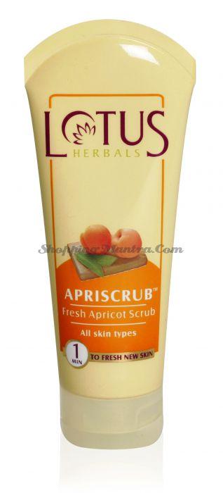 Очищающий скраб для лица Абрикос Лотус Хербалс / Lotus Herbals Apriscrub