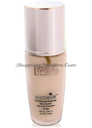 Отсветляющая эмульсия для лица с защитой SPF25 Лотус Хербалс (Lotus Herbals Whiteglow Emulsion)