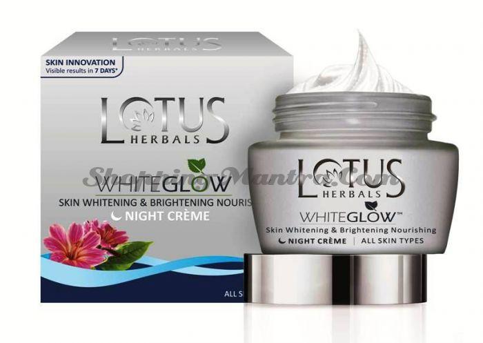 Ночной осветляющий крем для лица Лотус Хербалс / Lotus Herbals Whiteglow Whitening Night Cream