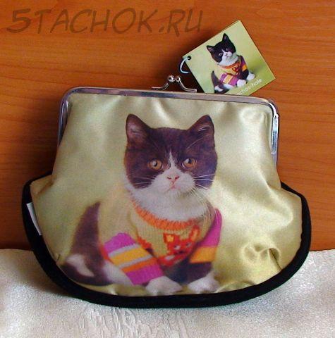 "Сумочка-косметичка ""Котенок в свитере"""