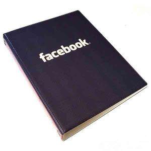 """Обложка для тетрадных блоков """"Фейсбук"""""""