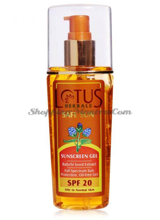 Солнцезащитный гель для лица SPF20 Лотус Хербалс / Lotus Herbals Safe Sun Sunscreen Gel