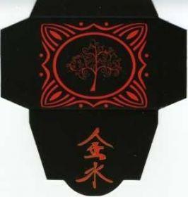 Картонная упаковка  чёрная дерево (50 шт)