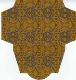 Картонная упаковка  цветная орнамент ( 50 шт)