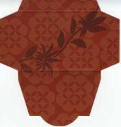 Картонная упаковка  цветная цветок  (50 шт)