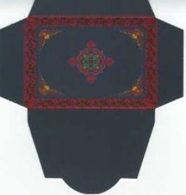 Картонная упаковка цветная узор (50 шт)