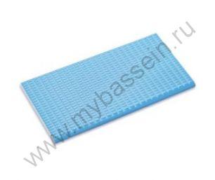 Противоскользящая  плитка с сетчатой поверхностью с буртиком св. голубая, кобальт