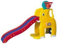 """HNP-715 детская горка """"Слон"""" с баскетбольным кольцом Haenim toy"""