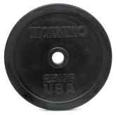 Диск черный обрезиненный Ivanko RUBO 25кг (Д-51-мм)
