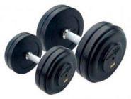 Набор обрезиненных гантелей AEROFIT RFD-40/50-40-50кг (5 пар )
