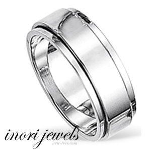 Крутящееся кольцо из ювелирной стали