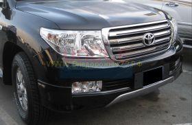 Аэродинамическая накладка на передний бампер губа (Тип 2) для Toyota Land Cruiser 200 2008