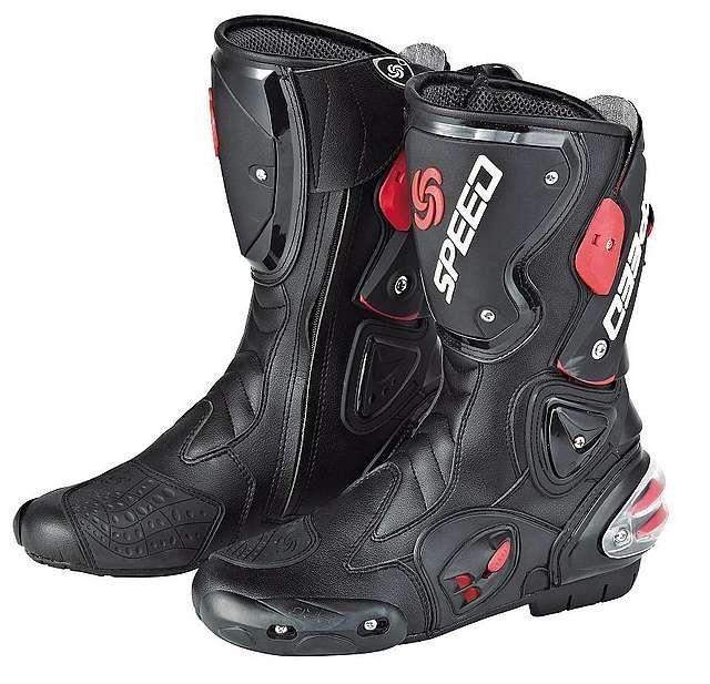 Мотоботы Pro-Biker Speed (черно-красный)