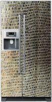 Виниловая наклейка на холодильник - Кожа крокодила