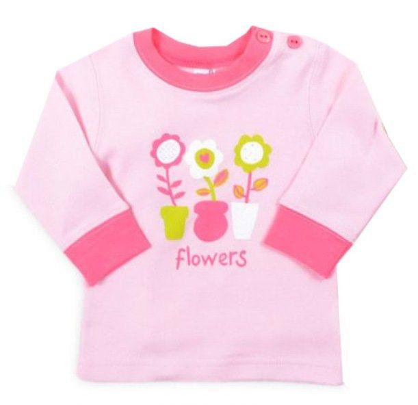 Кофточка для девочки Цветы