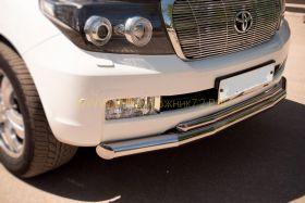 Защита переднего бампера 76х42 мм (LCZ-000206) для Toyota Land Cruiser 200 2008