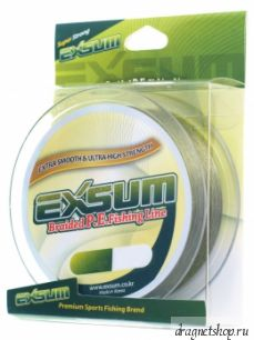 Шнур плетеный EXSUM Braided P.E.Fishing Line, от10LB до50LB, зеленый, намотка150м.(EXSM-Olv-grn-150)