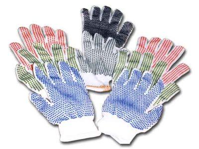 Х/б перчатки с резиновыми точками улучшенные