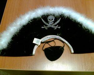 Шляпа пирата с опушкой и повяз.
