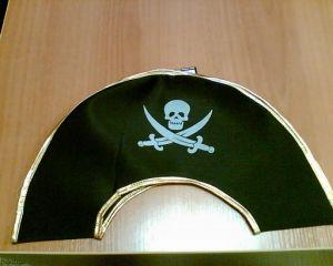 Шляпа пирата с зол. каймой