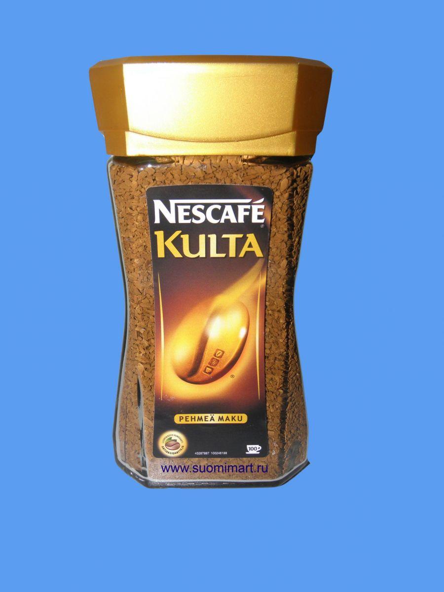 Кофе растворимый Nescafe Kulta 200г (стекло)