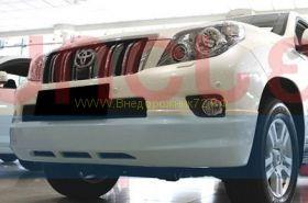 Аэродинамическая накладка на передний бампер губа для Toyota Land Cruiser Prado 150 2010