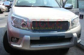 Решетка радиатора  (Тип 1 Хром) для Toyota Land Cruiser Prado 150 2010