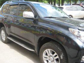 Хромированные накладки на зеркала  для Toyota Land Cruiser Prado 150