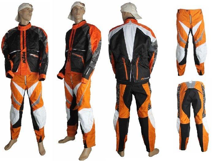 Мотокуртка и мотоштаны KTM (комплект) оранжевый/черный/белый