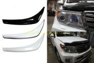 Накладки Реснички на переднею оптику (Окрашенные) для Toyota Land Cruiser 200 2012
