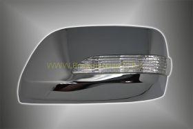 Корпуса зеркал с повторителем поворота (Хром) для Toyota Land Cruiser 200 2008