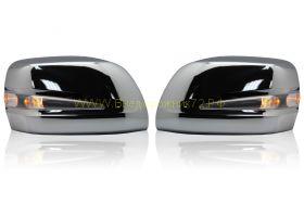 Корпуса зеркал с повторителем поворота тип Lexus (Хром) для Toyota Land Cruiser 200 / Lexus LX