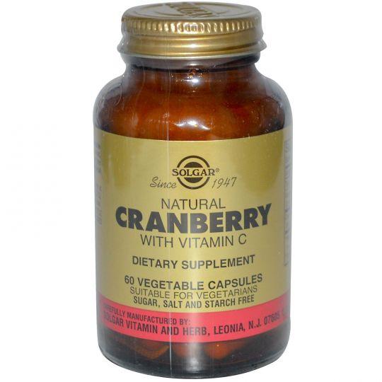 Солгар Натуральная клюква с витамином С (60 капсул)