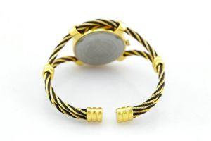 черные с золотом женские часы