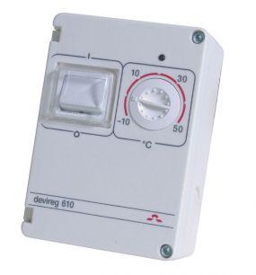 Devi терморегулятор Devireg 610 с датчиком на проводе.