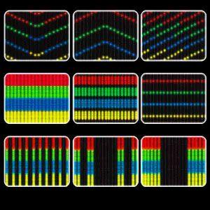 Цифровой  занавес «Диджитал», разноцветный
