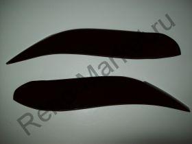 Реснички на фары Logan фаза2 (2010--) оргстекло (комплект)