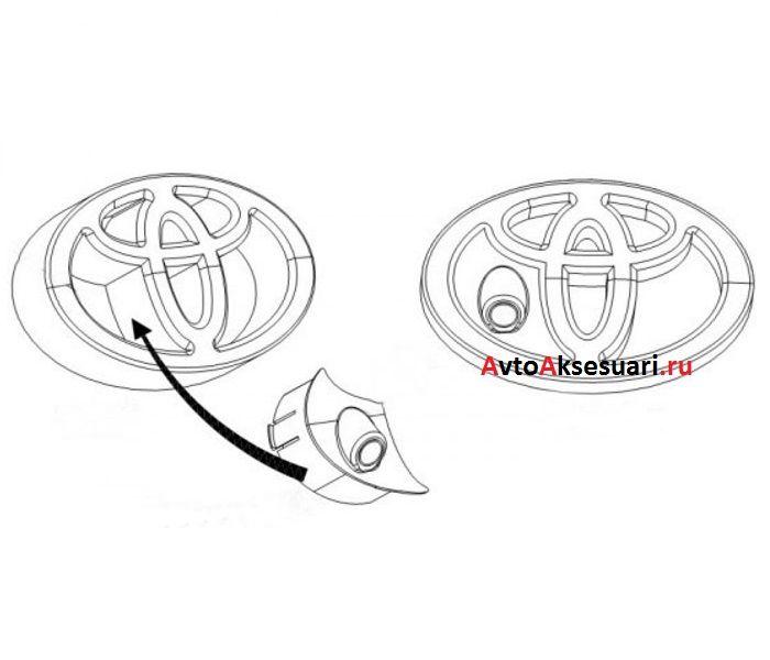 Камера переднего вида для Toyota