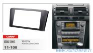Carav 11-108 (2-DIN TOYOTA Avensis 2002-2008 Black)
