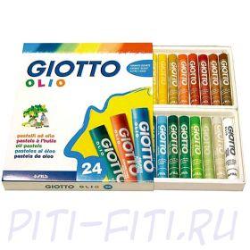 Giotto. Масляная пастель, 24 цветов
