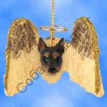 Доберман новогоднее украшение «Мини-ангелок»