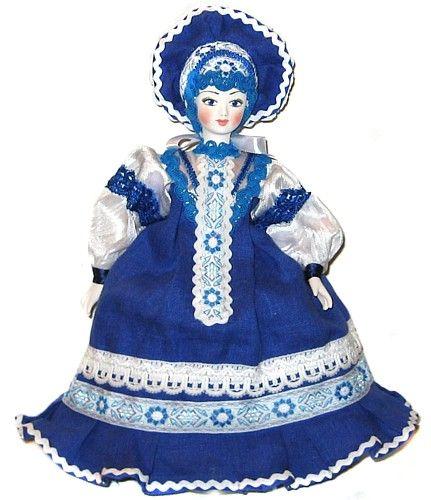 Любава-гжель кукла грелка на чайник