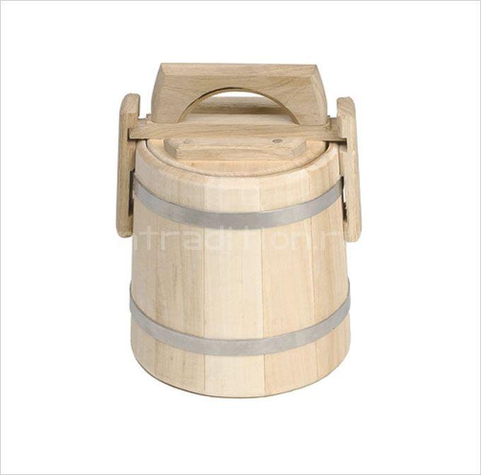 Кадка для меда липовая, 3 л