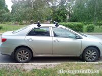 Багажник на крышу Toyota Corolla, Атлант, аэродинамические дуги