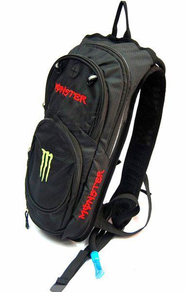 Мото рюкзак Kawasaki Monster SDB-004 с ёмкостью под воду (черный)