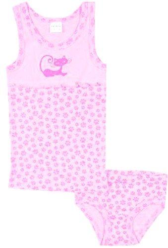 Розовый комплект нижнего белья Котенок