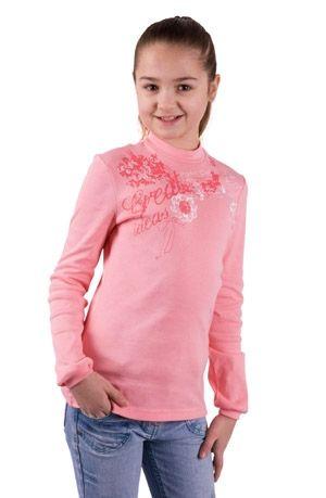 Розовая водолазка для девочки