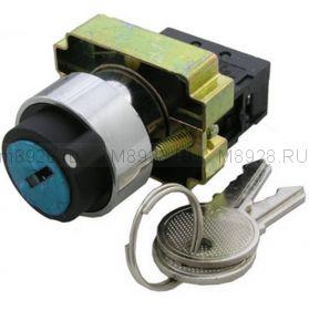 Переключатель XB2- BG21 (на два положения) с ключом N/O
