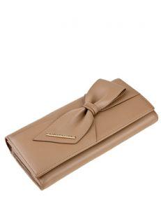 Бежевый кожаный кошелёк